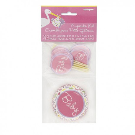 Kit Decorazione Cupcakes Baby Girl