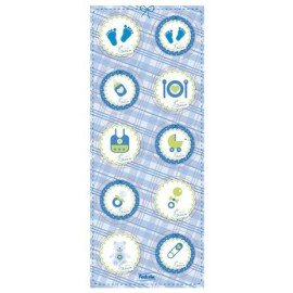 Baby Shower Blue Stickers