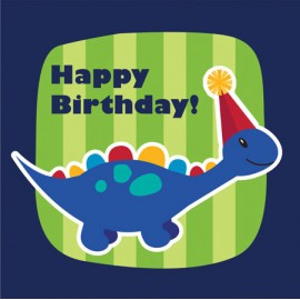 Little Dino Happy Birthday Lunch Napkins
