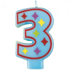 Fun Number 3 Candle