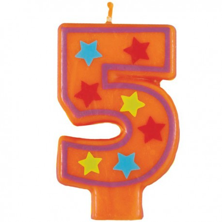 Fun Number 4 Candle