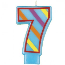 Fun Number 7 Candle