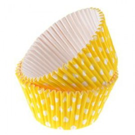 Yellow Dots Rigid Cupcakes Baking Cups
