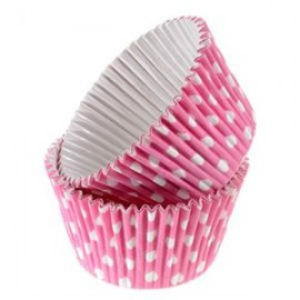 Pink Dots Rigid Cupcakes Baking Cups