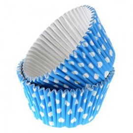 Blue Dots Rigid Cupcakes Baking Cups