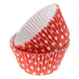 Red Dots Rigid Cupcakes Baking Cups