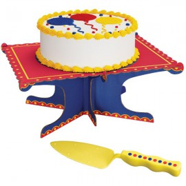 Kit Alzata per Torta e Spatola Festa Compleanno