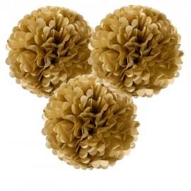 Gold Pom Poms