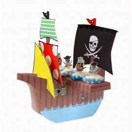 Centrotavola Personalizzabile Nave Pirata