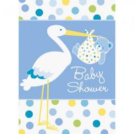 Baby Boy Stork Invitations