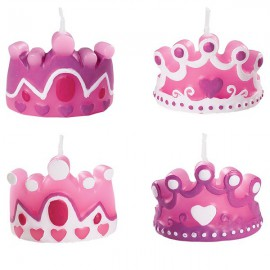 Princess Crowns Candles Set