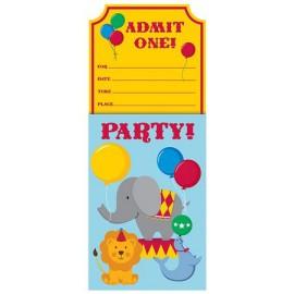 Biglietti Invito Circus Time
