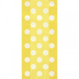 Borsine cellophane giallo pois 20pz