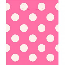 Hit pink dots party bags
