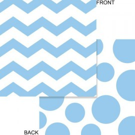 Pastel Blue Chevron and Dots Lunch Napkins
