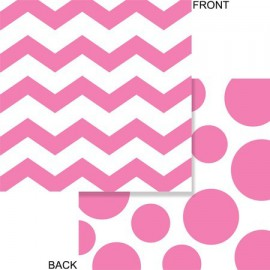 Pink Chevron and Dots Lunch Napkins