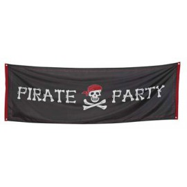 Striscione Pirati Party in poliestere