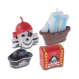 Pirate Mini Candles Set