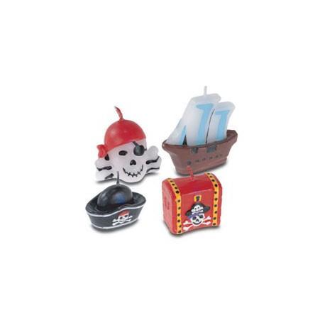 Mini candele Pirati 4pz