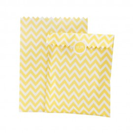 Chevron Yellow Party Treat Bags