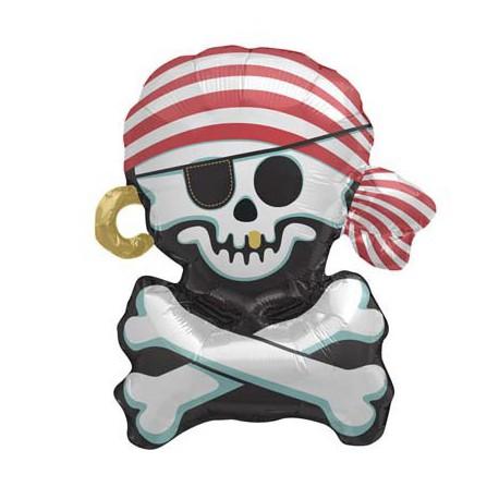 Palloncino Foil Teschio Pirata