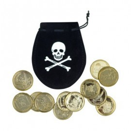 Pirate coins bag set