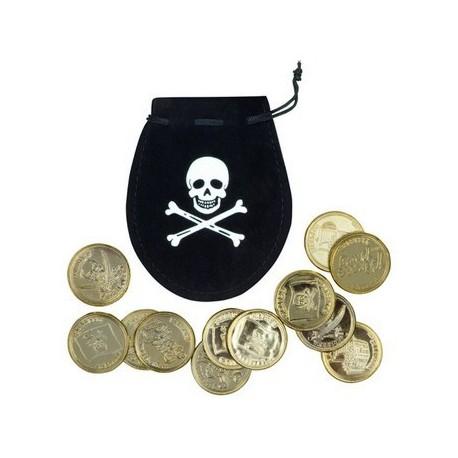 Sacchetto con monete Pirata