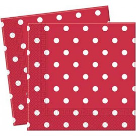 Red Dots Paper Lunch Napkins