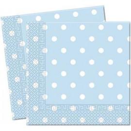 Light Blue Dots Paper Lunch Napkins