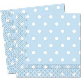 Light Blue Dots Paper Lunch Napkins