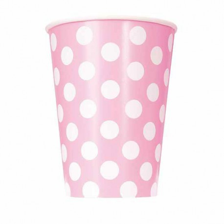 Light Pink Dots Paper Cups