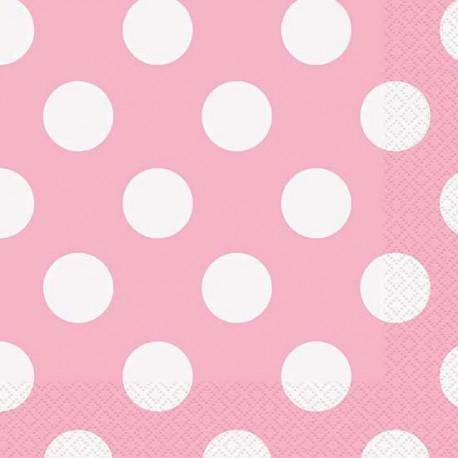 Tovagliolini Rosa A Pois Bianco