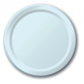 Pastel Blue Paper Dinner Plates
