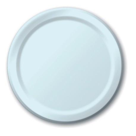 Piatti Carta Azzurro Pastello 23cm 8pz