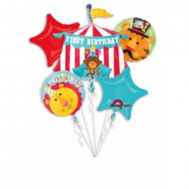 Fisher Price Circus Foil Balloon Bouquet