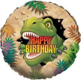 Palloncino Foil Happy Birthday Dino Blast