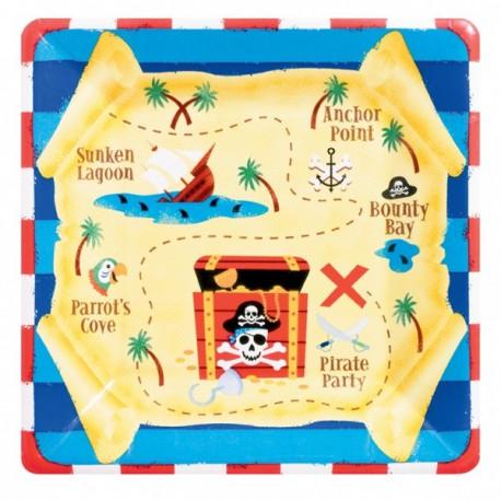 Pirates Treasure Dessert Plates