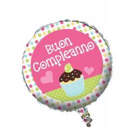 Palloncino Foil Buon Compleanno Dolci Dolcetti