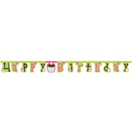 Sweet Treats Happy Birthday Banner