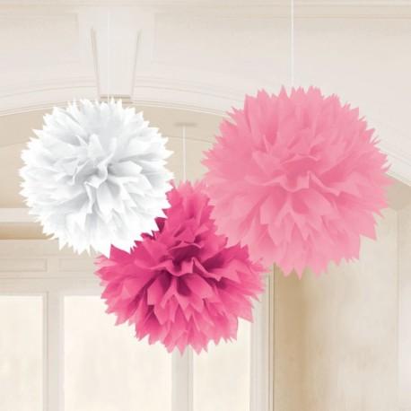 Pendenti Fluffy Mix Rosa 3pz