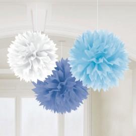 Blue Mix Fluffy Decorations