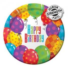 Piattini Happy Birthday Palloncini