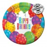 Happy Birthday Balloons Dessert Plates