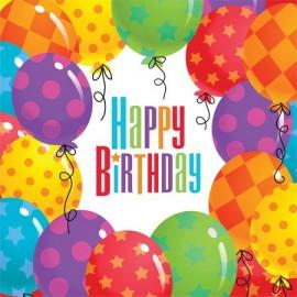 Tovaglioli Happy Birthday Palloncini