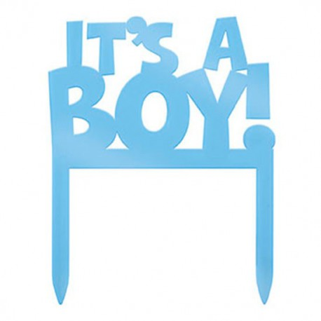 eb0d56ae08e60 It's a Boy Cake Topper