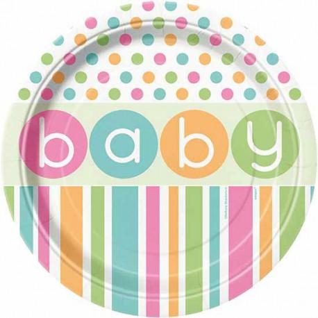 Piatti Pastel Baby Shower