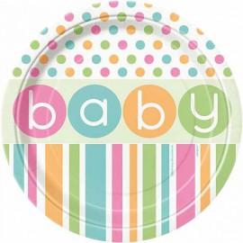 Pastel Baby Shower Dessert Plates