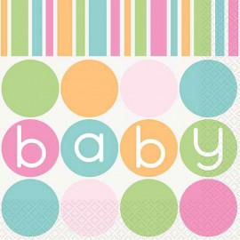 Pastel Baby Shower Lunch Napkins