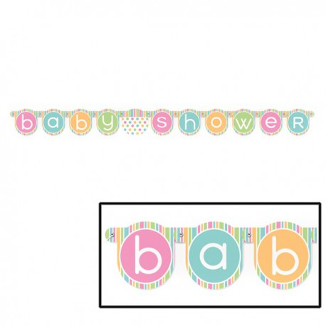 Festone Pastel Baby Shower