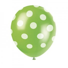 Green Dots Latex Balloons